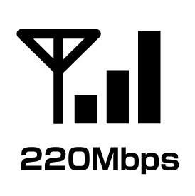 ヤ倍速220Mbpsのエリアに注意