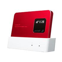 220Mbps対応のWX01に新色「メタリックレッド」が追加